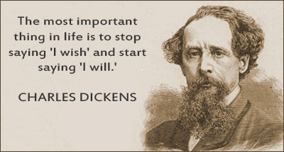 Well said, Mr. Dickens.